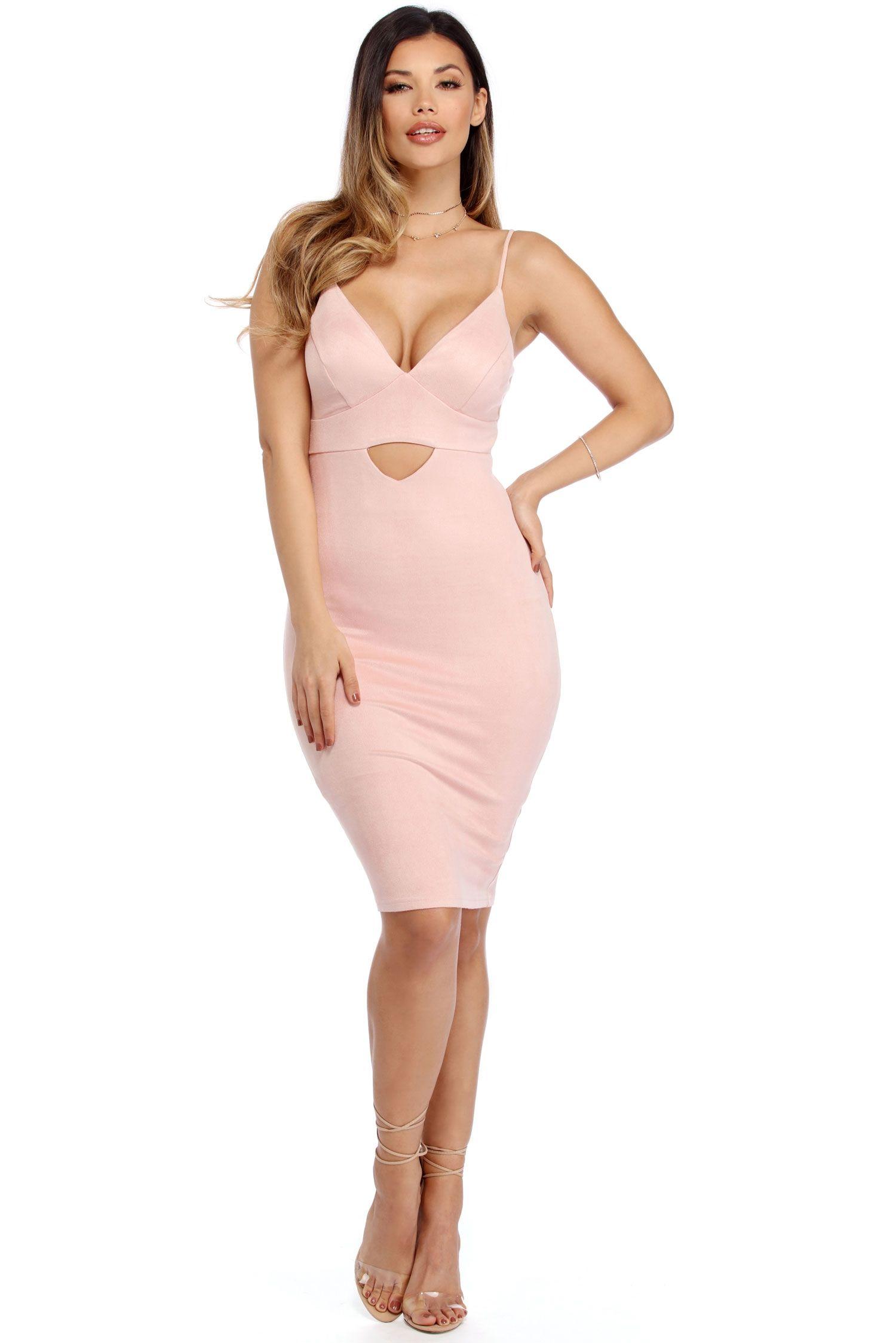 Pink Suede Sensation Midi Dress Windsor Midi Dress Pink Suede Dresses [ 2247 x 1500 Pixel ]