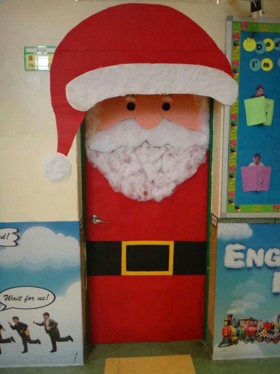 Santa claus door decoracion puertas y ventanas for Puertas decoradas santa claus