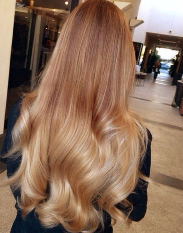 ombre hair from light brown to blonde