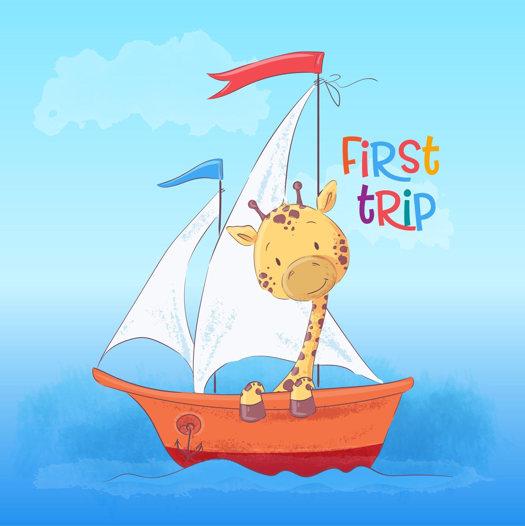 Pin By Elena On Detskij Risunok Cartoon Styles Giraffe Boat Cartoon