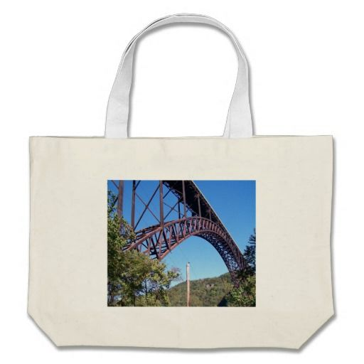 New River George Bridge Canvas Bags!  There's a great selection of styles to choose from.  Starting around $22 this bag is very affordable!