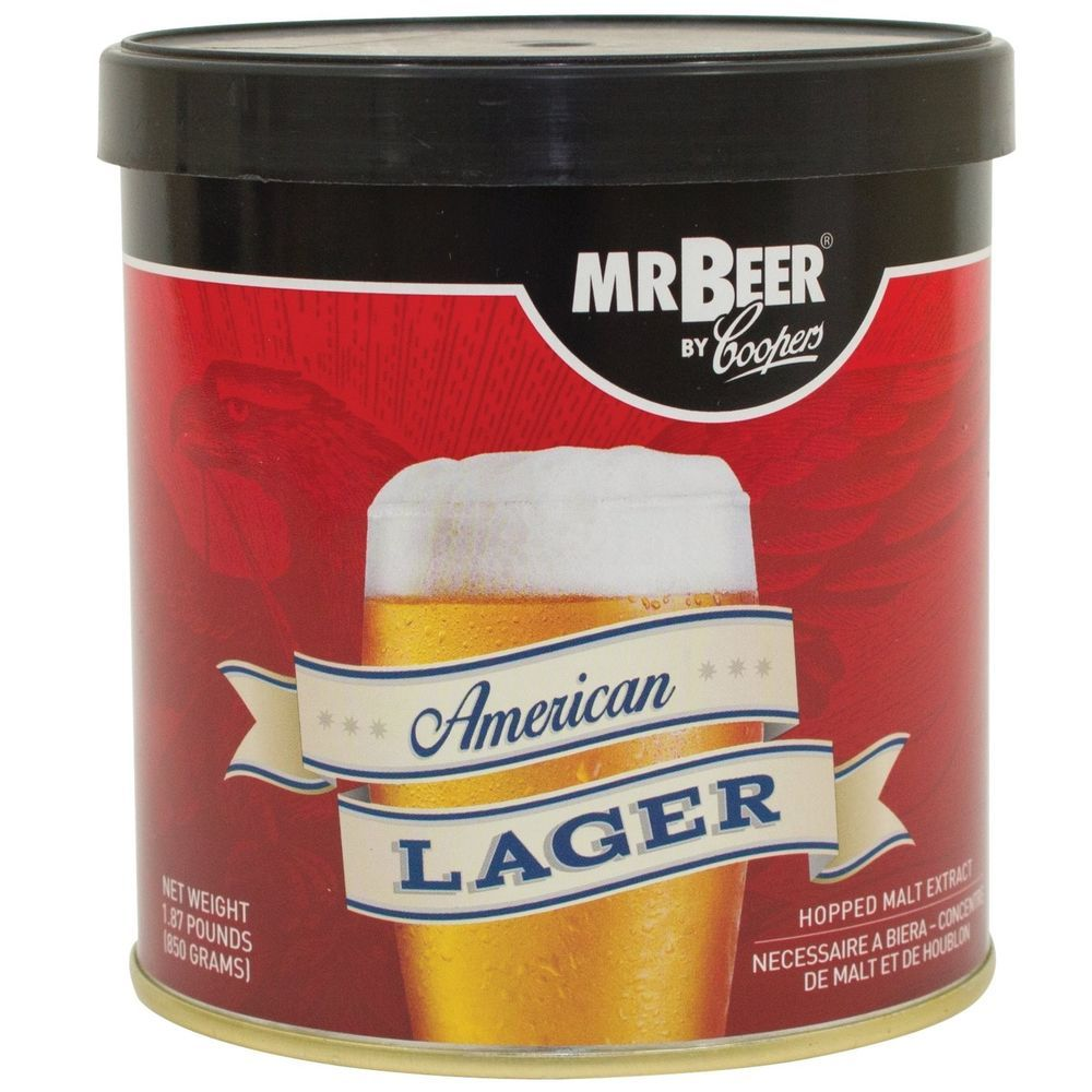 Mr Beer American Lager 2 Gallon Homebrewing Craft Beer Refill Kit Contains Lager Home Brewing Beer Brewing Kits