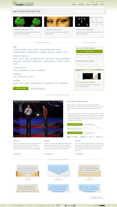 khanacademy #2013   Educational Tech Platforms   Education