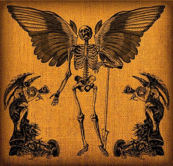 Halloween Winged Skeleton With Demon Angels by GadgetSponge, $2.seventy five.... *** Learn even more by going to the picture link