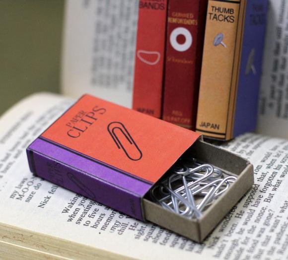 Mini Office Supply Bookcovers For Matchboxes Avec Images Artisanat Boite D Allumettes Mini Bureau