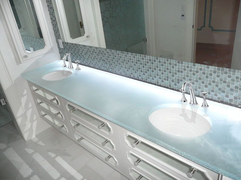 105 Reference Of Glass Bathroom Countertops Sinks In 2020