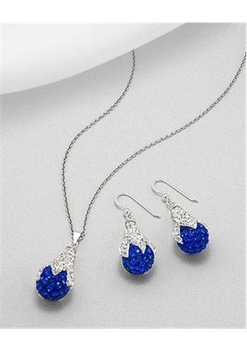 Jewelry set Earrings In 92.5 Sterling Silver
