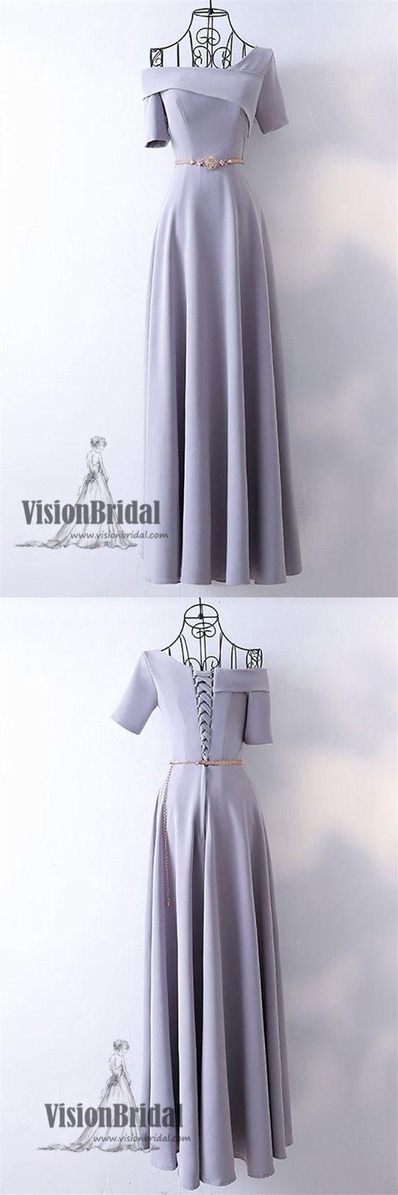 one shoulder lavender lace up aline floor length prom dress