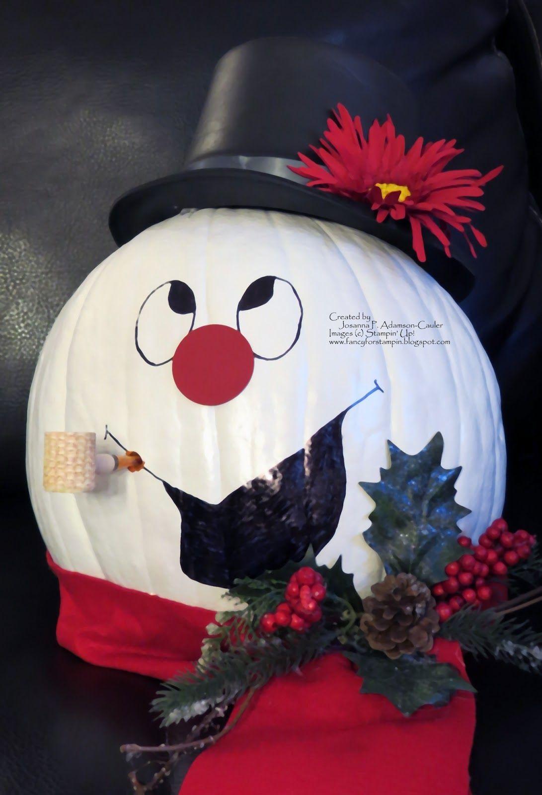 fancy for stampin christmas pumpkin pumpkin decorating contest halloween pumpkins christmas pumpkins - Decorating Pumpkins For Christmas Ideas