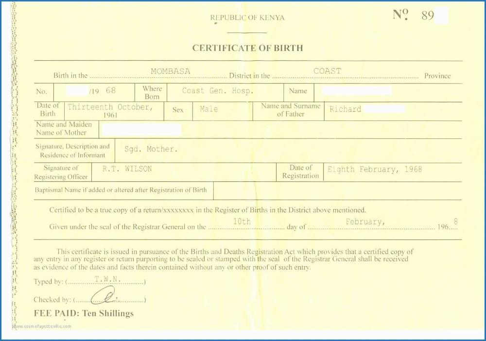 Fake Birth Certificate Template Highgrade Of Certificate