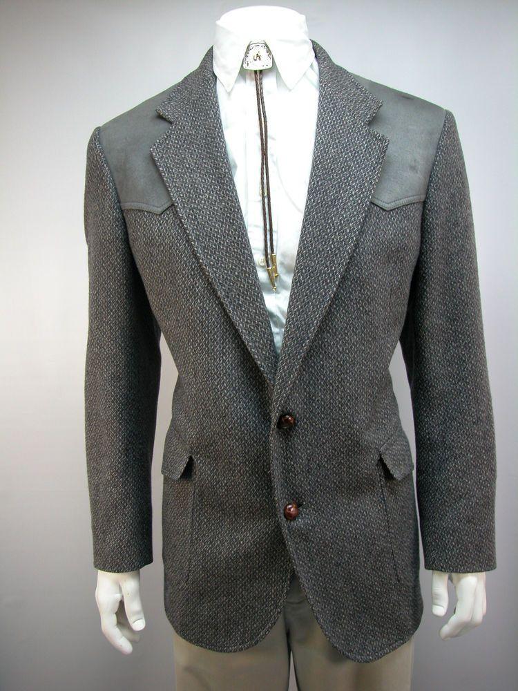Pendleton Western Coat Elbow Patches Virgin Wool Jacket