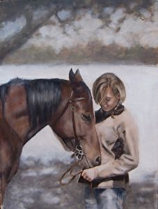 First Love by artist Sarah Kennedy. #horseart found on the FASO Daily Art Show - http://dailyartshow.faso.com
