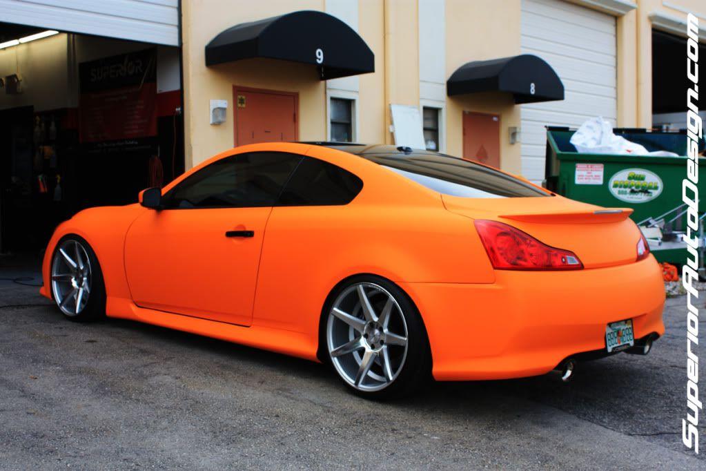 Sadesign Vossen Wheels G37s Matte Orange Sexiness Vossen Wheels Vossen Car Wrap Design