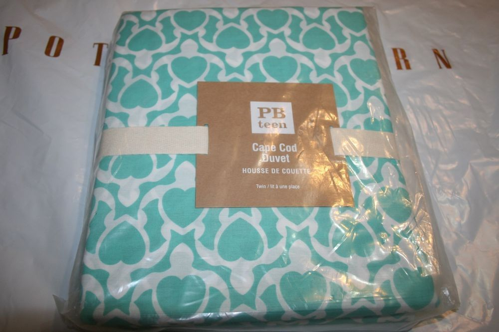 90 New Pottery Barn Cape Cod Turtle Duvet Cover Twin Pool Color Sold