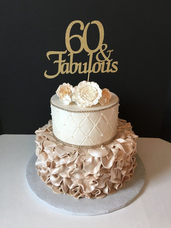 Any Number Gold Glitter 30th Birthday Cake Topper 30 And Fabulous