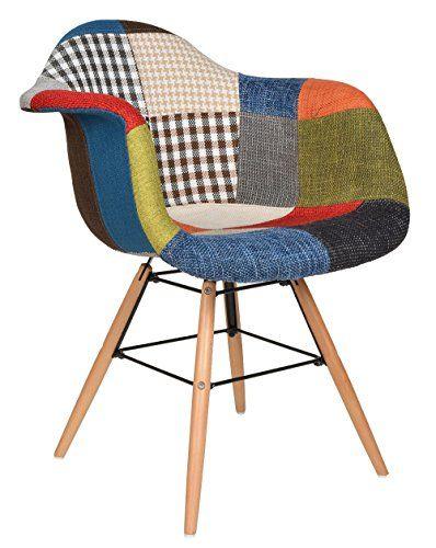 1x Design Patchwork Sessel Wohnzimmer Büro Stuhl Esszimme https - sessel wohnzimmer design