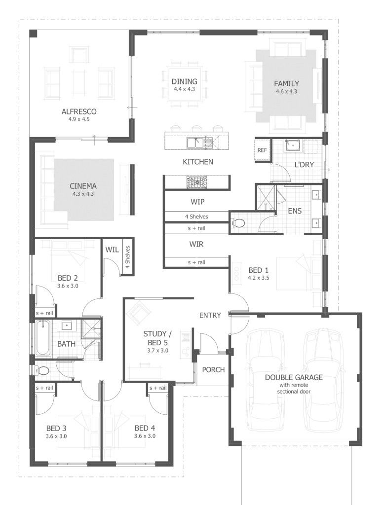 New House Design With Floor Plan 2020 Free House Plans Four Bedroom House Plans Floor Plan Design