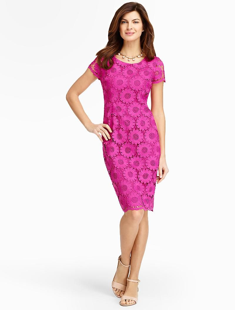 Talbots - Sunflower Lace Sheath | Dresses | Misses $199 (Easter ...
