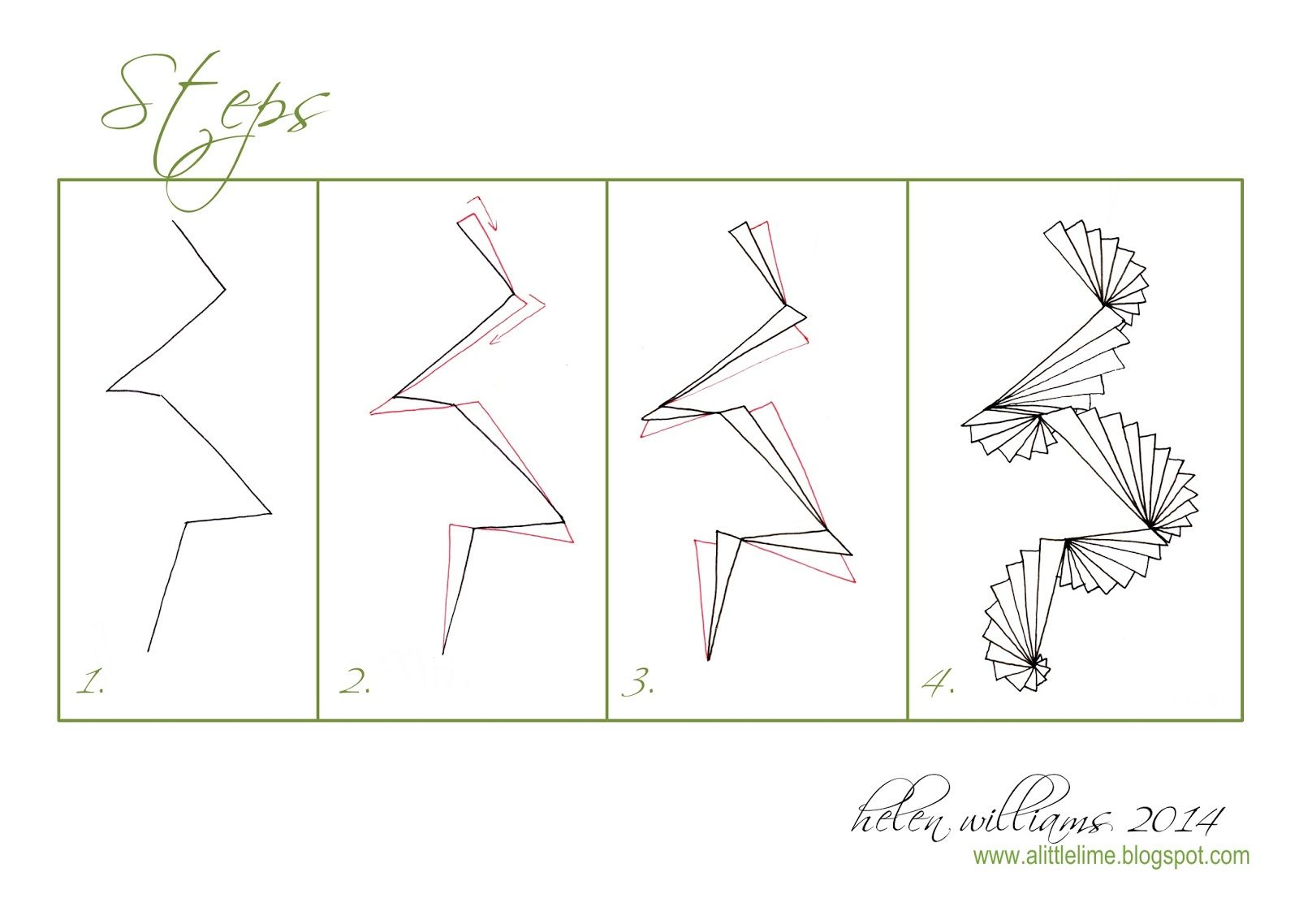 A little lime challenge and steps pattern drawing ideas