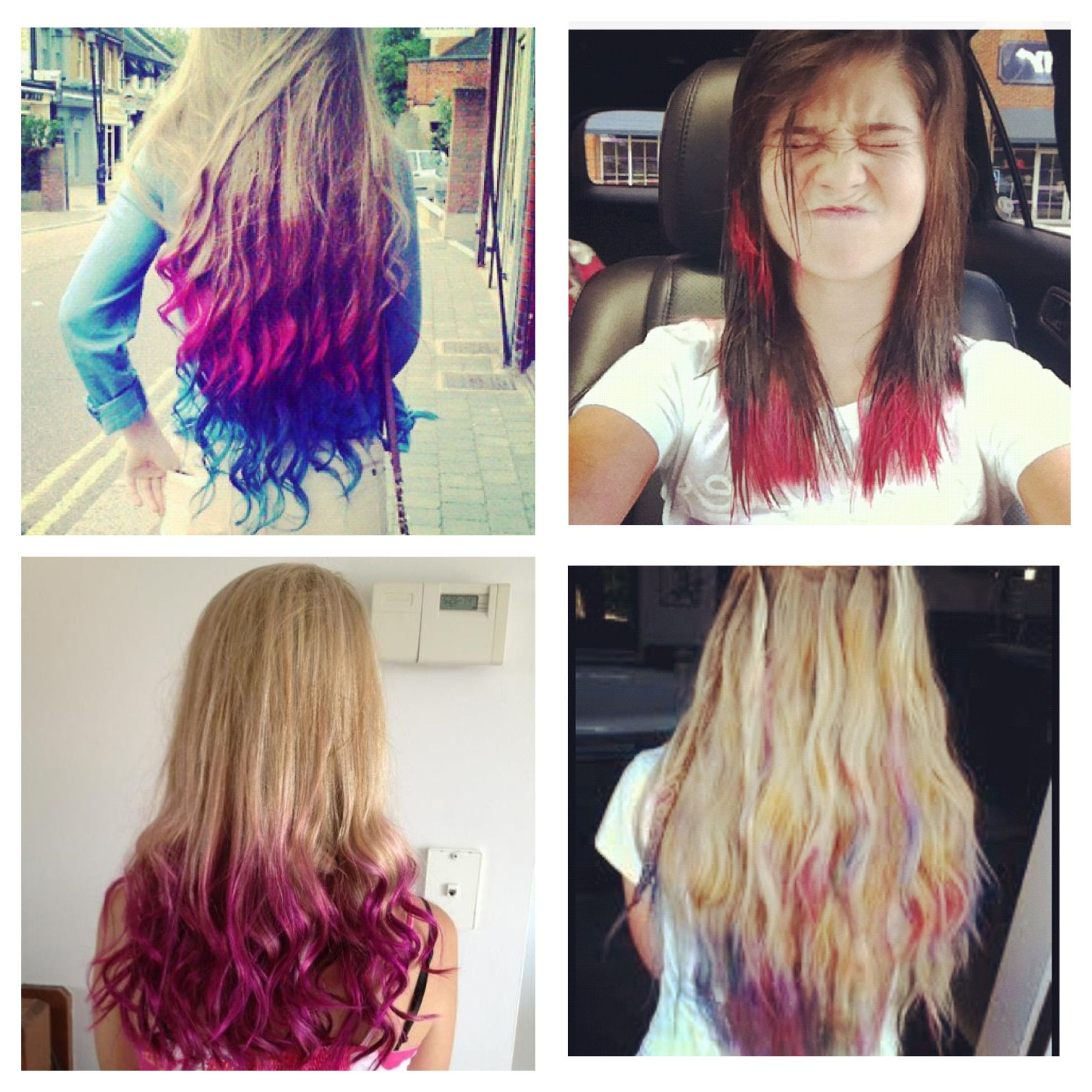 Pin On Dip Dyed Hair