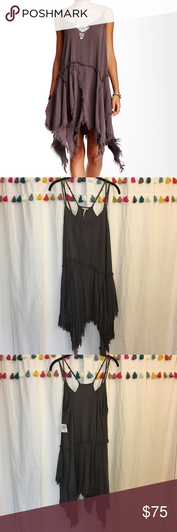 Free People | Tattered up shred slip This slip dress is perfect to wear all year round - from the beach to the mountains (with a chunky sweater)! It's never been worn, and still has tags attached. I bought it at a shop in Manhattan Beach, CA. Free People Dresses