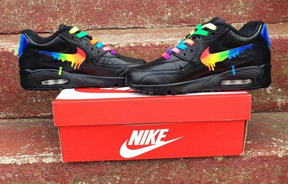 Rainbow drippy nike air max 90 | my shoes in 2019 | Air max