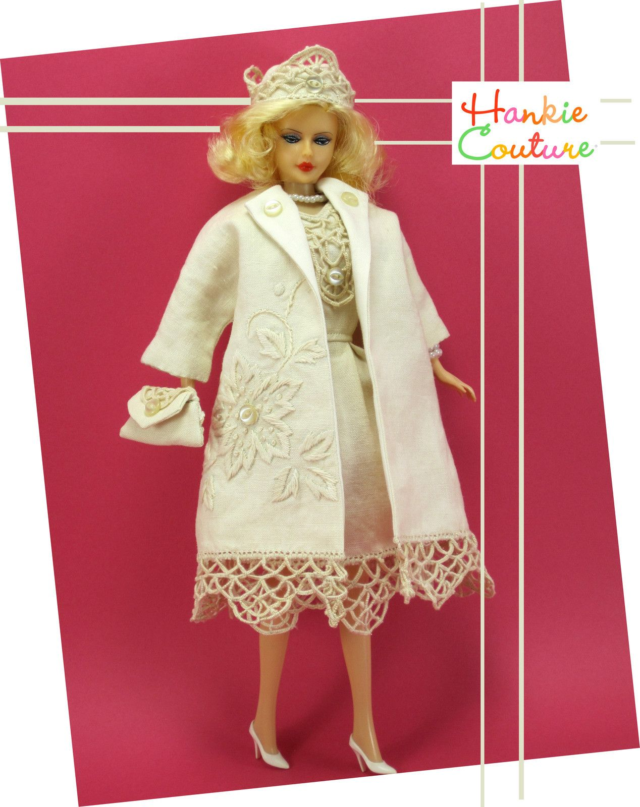 Dress and matching coat by hankiie couture