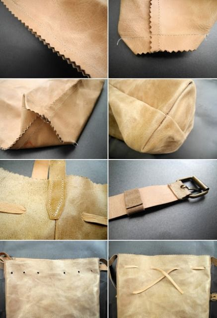 Easy Diy Leather Backpack Shelterness Diy Leder Leder