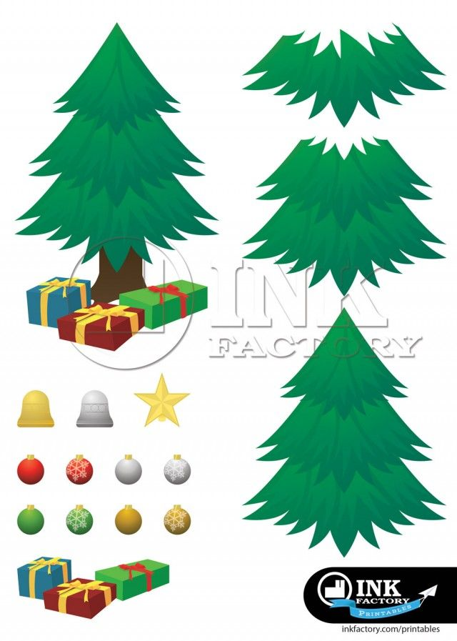 Tree Template Print 2 Ay I E I Pinterest Decoupage Christmas