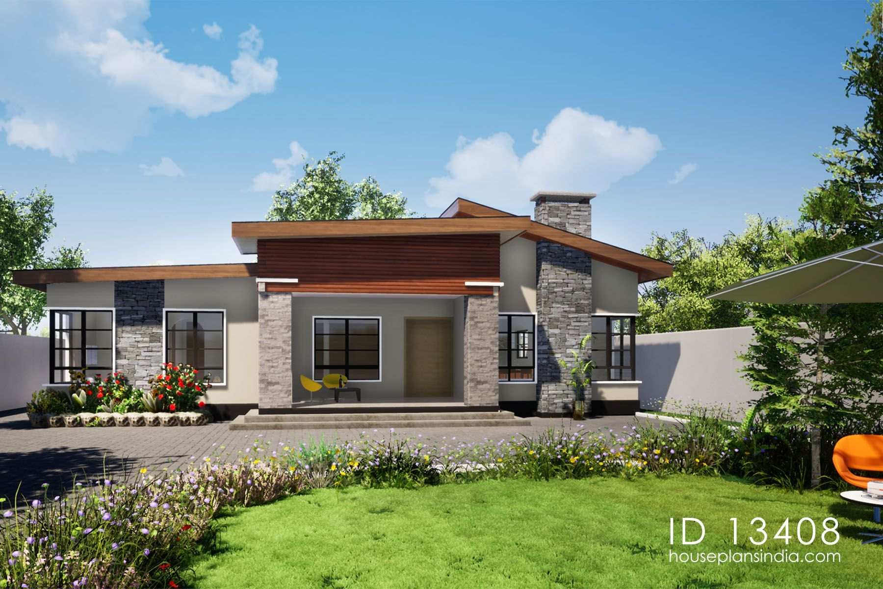 Designer House Id 13408 House Designs By Maramani Flat Roof House Designs Contemporary House Plans House Design