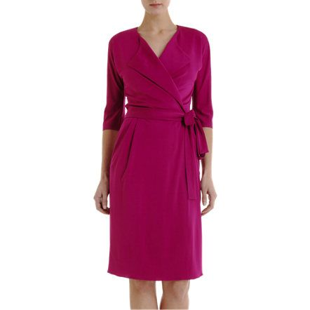 Another easy-to-wear wrap jersey dress in a wonderful color. I love dresses!