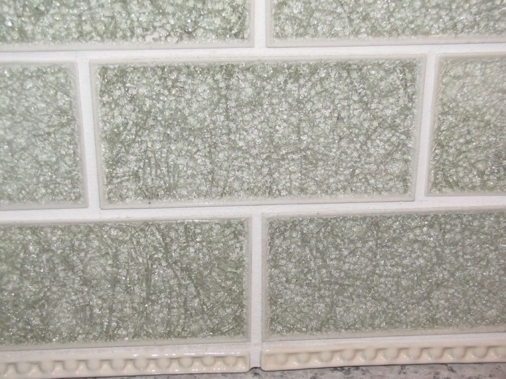 Popular Crackle Glass Tile And More Bianco Bs Help Please