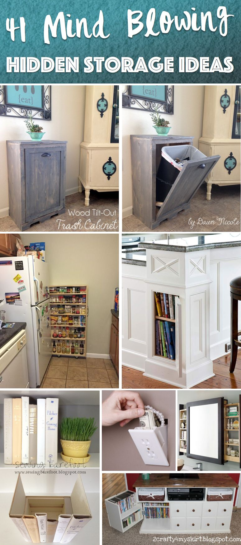 41 mind blowing hidden storage ideas making a clever use of your household space