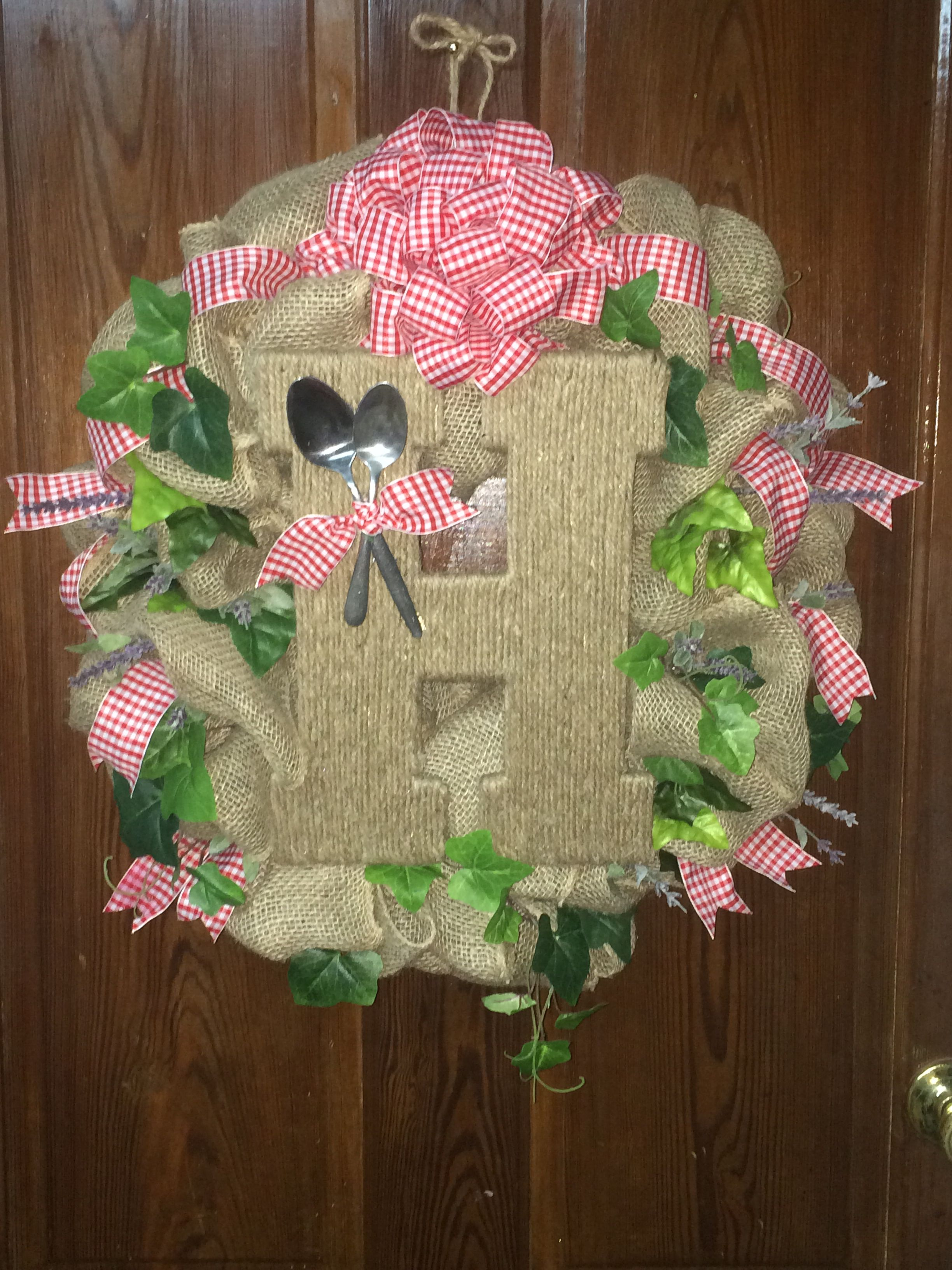 """Rustic """"Cooking"""" Wreath Toodle E. Doots  On Facebook"""