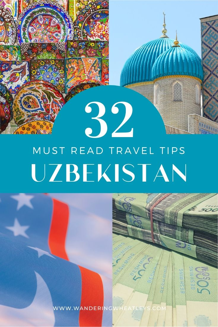 Plan your trip to Uzbekistan with these essential travel tips. 32 Must-Read Uzbekistan Travel Tips I visit Uzbekistan I Central Asia travel I travel tips for Uzbekistan I what to do in Uzbekistan I Uzbekistan tourism I travel planning I #Uzbekistan #CentralAsia #traveltips -By Wandering Wheatleys via @wanderingwheatleys