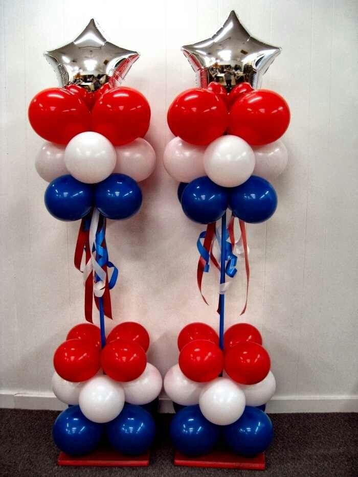 Love These Patriotic Balloon Columns!