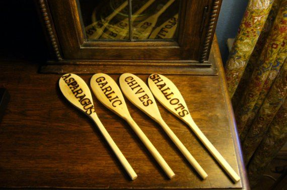 Wooden Spoon Plant Markers for the Garden and Home via Etsy