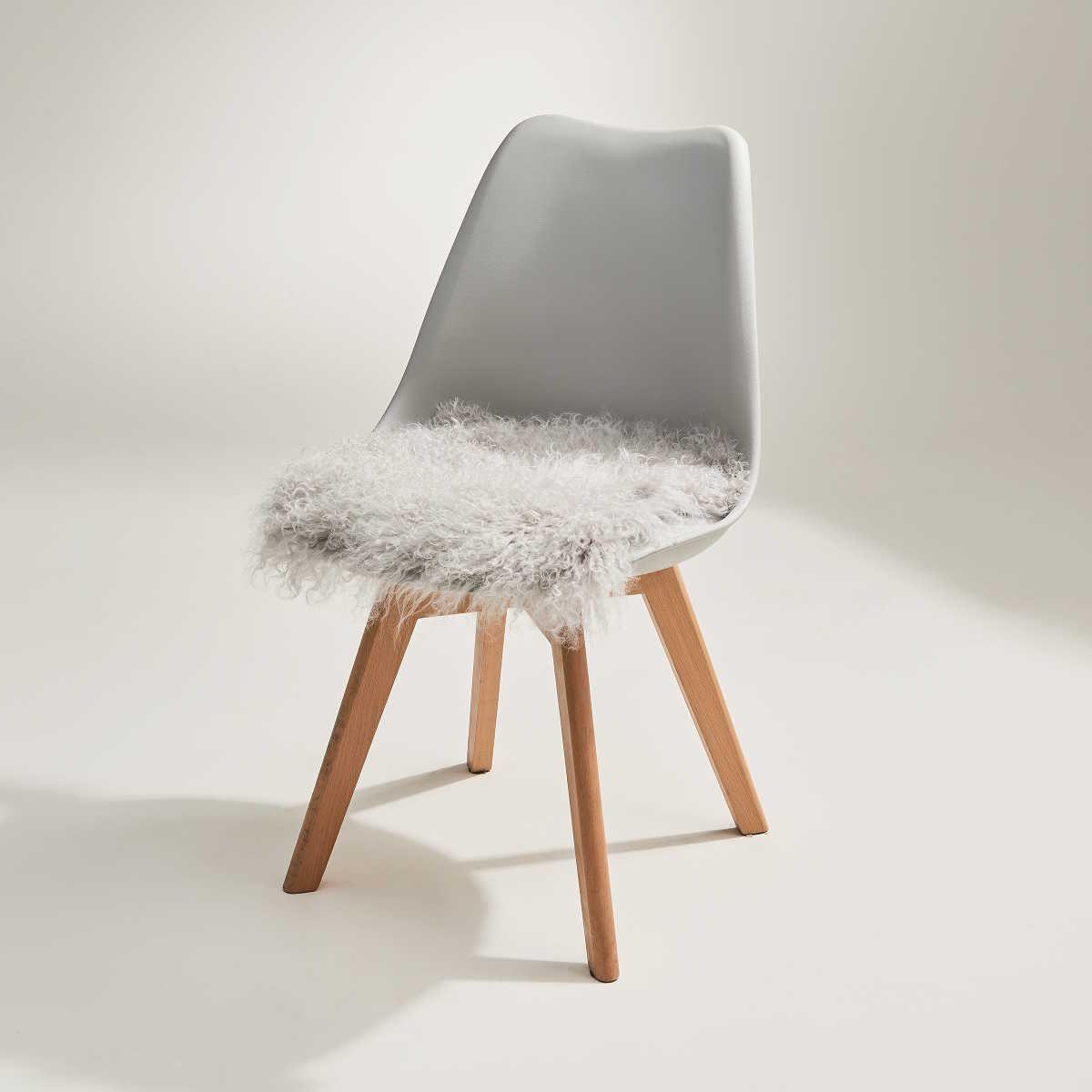 Tashi Lammfell Stuhlauflage 35x35 Cm Butlers Stuhlkissen Kissen Fur Stuhle Stuhlauflagen