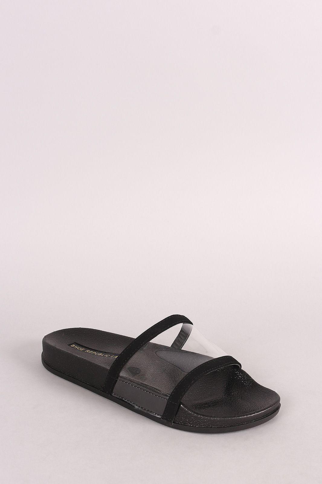 26b4e5399829ba Lucite Open Toe Slide Sandal