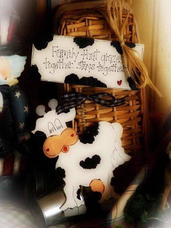 Farm Country Kitchen Decor cows country kitchen decor farm cow family grazes whimsical wall