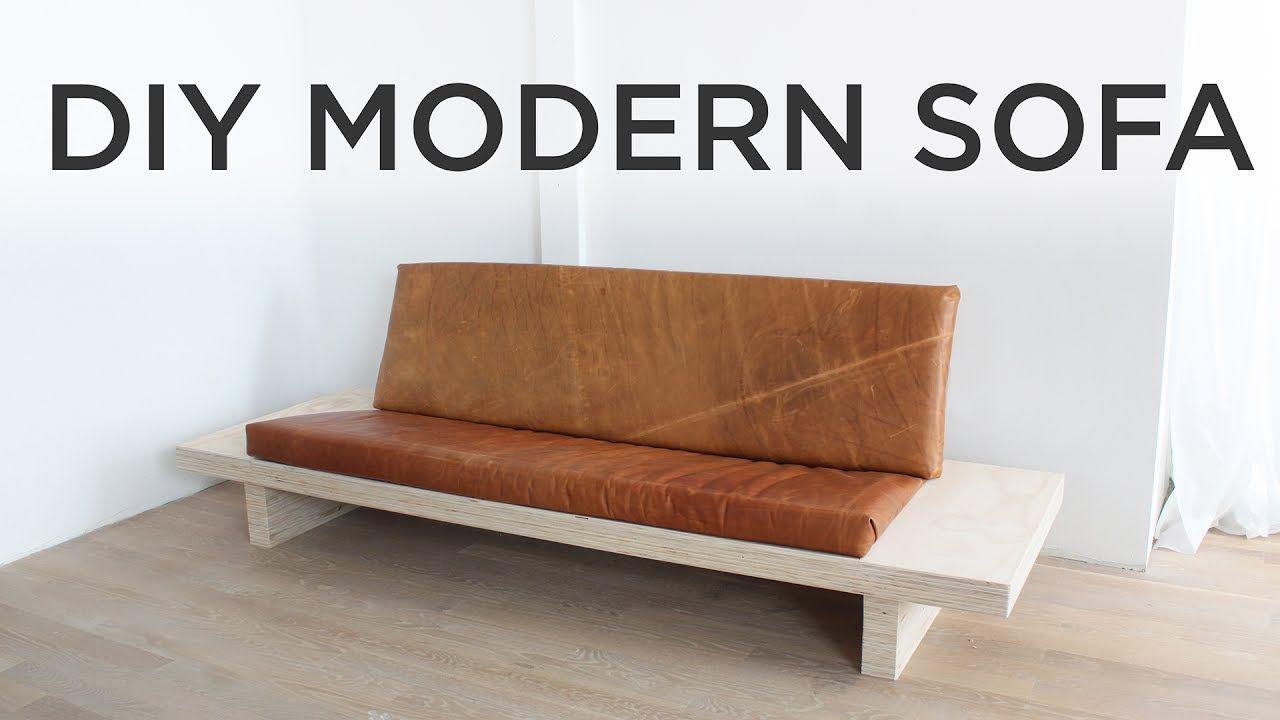 Diy Modern Sofa How To Make A Sofa Out Of Plywood Kozhanye Divany Sofa V Spalne Sofa