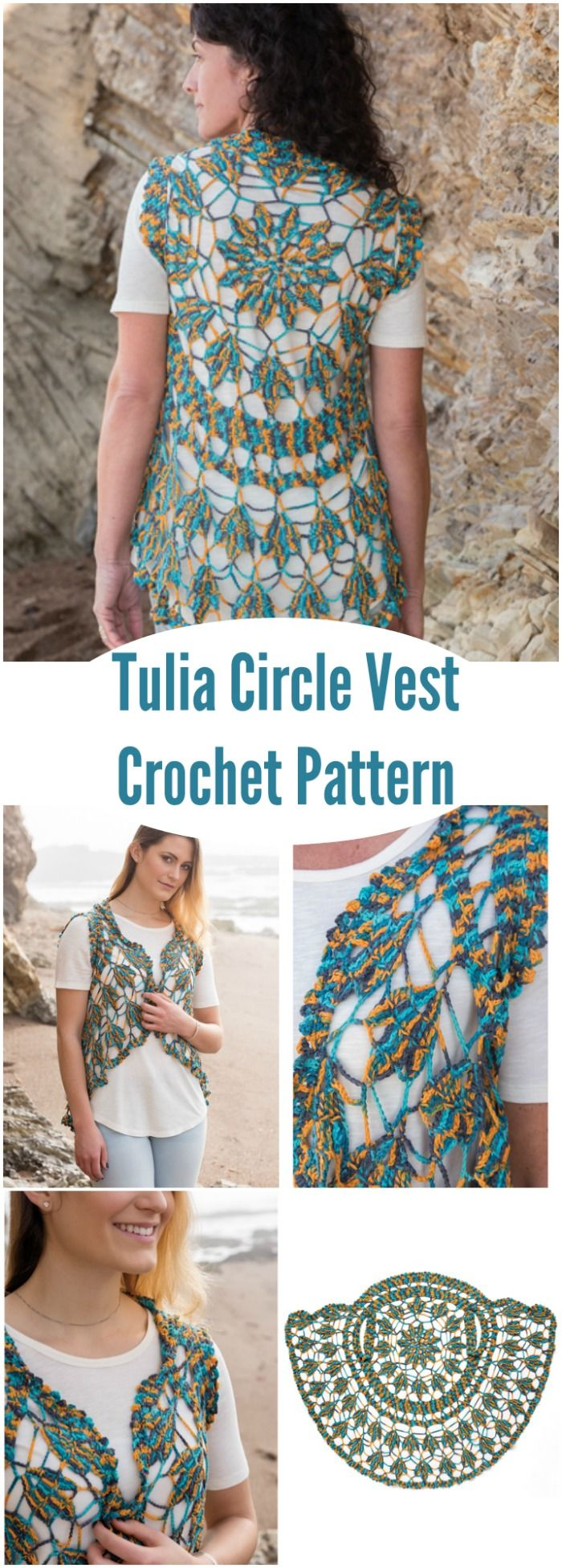 Gorgeous openwork crochet pattern for this summer vest. | Fun craft ...