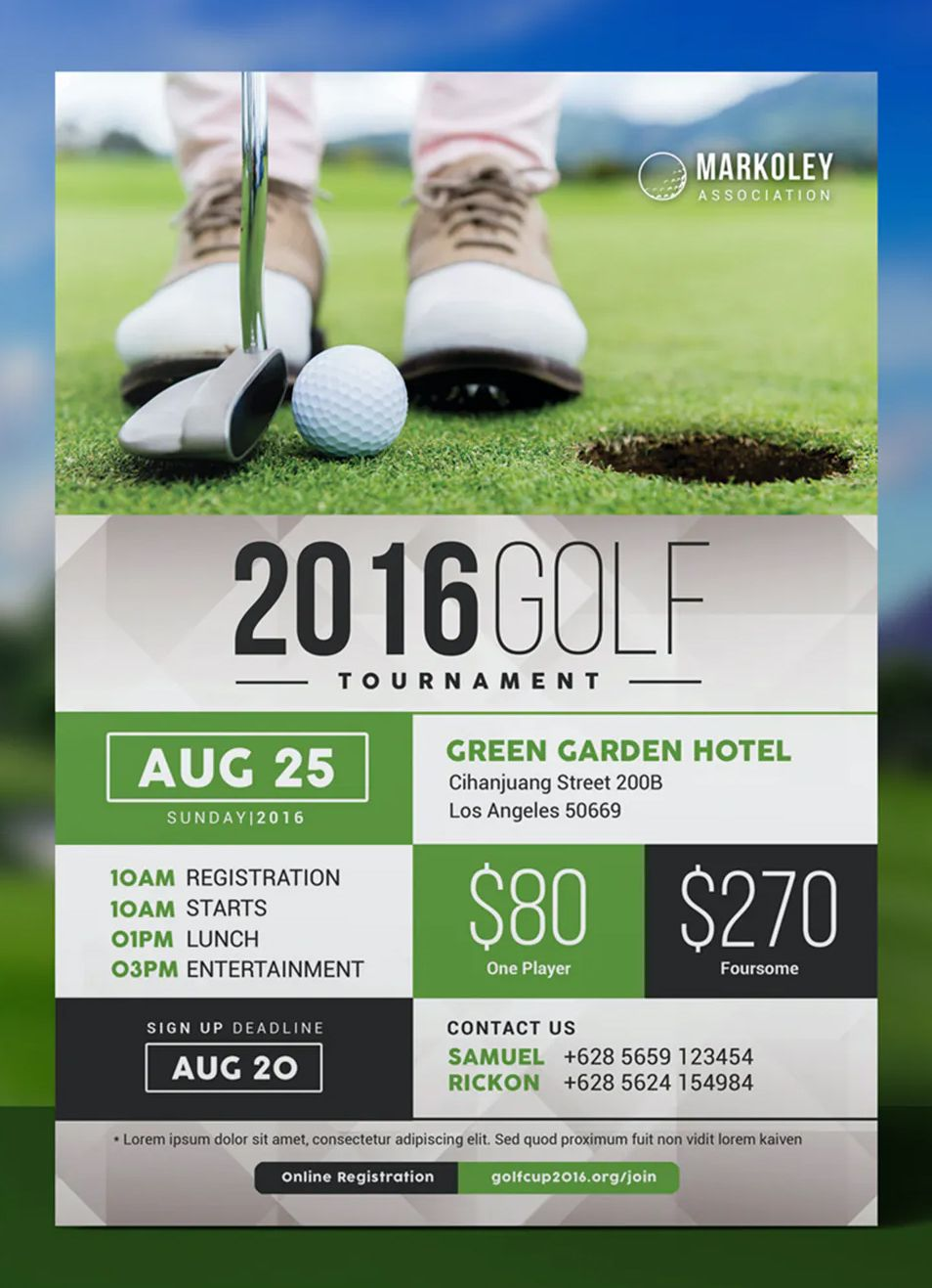 Charity Golf Tournament Flyer By Aarleykaiven On Envato Elements In 2021 Event Flyer Templates Event Flyer Golf Tournament