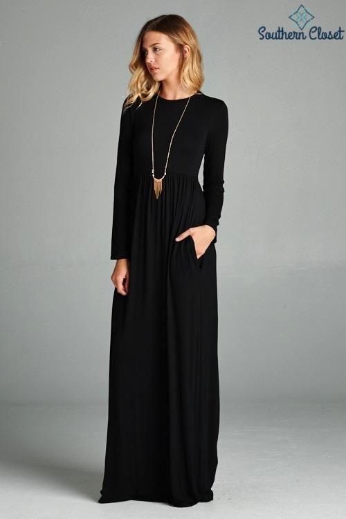 49b6ec1f73c Brittany Black Maxi Dress  MaxiDresses