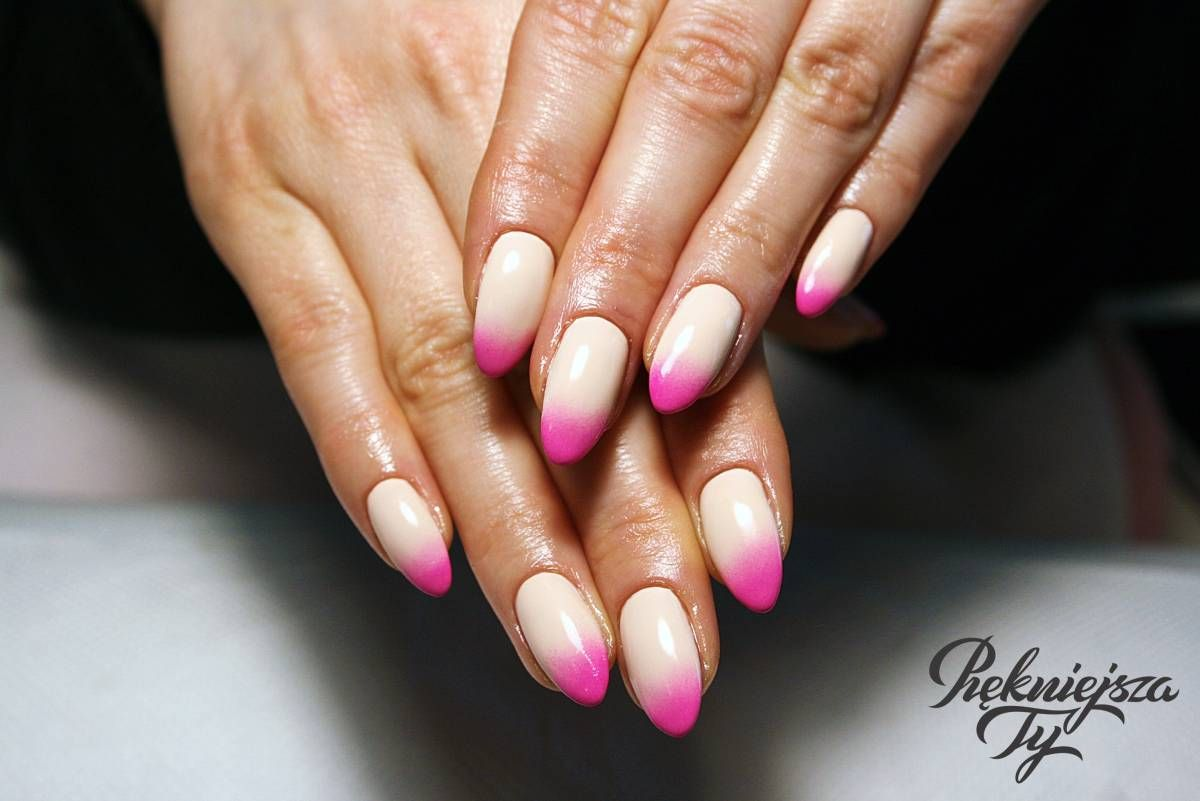 Manicure Ombre Paznokcie With Images Paznokcie Manicure