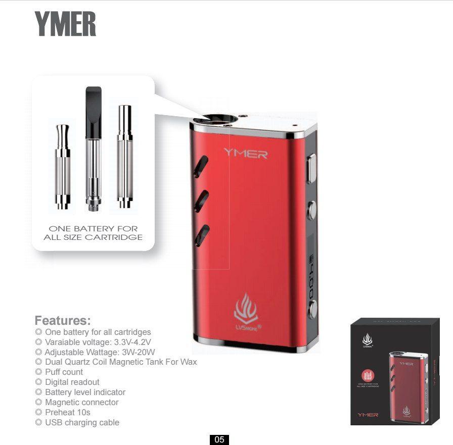 LvSmoke YMER Vape Mod Electronic Cigarette 510 Thread 650mAh