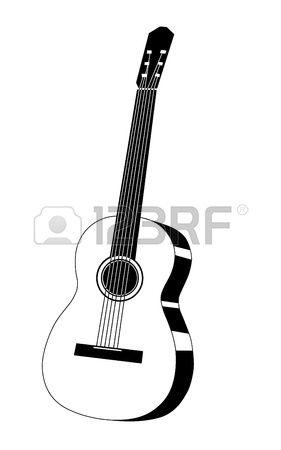 Guitar Drawing On White Background Ilustrace Pinterest Guitar