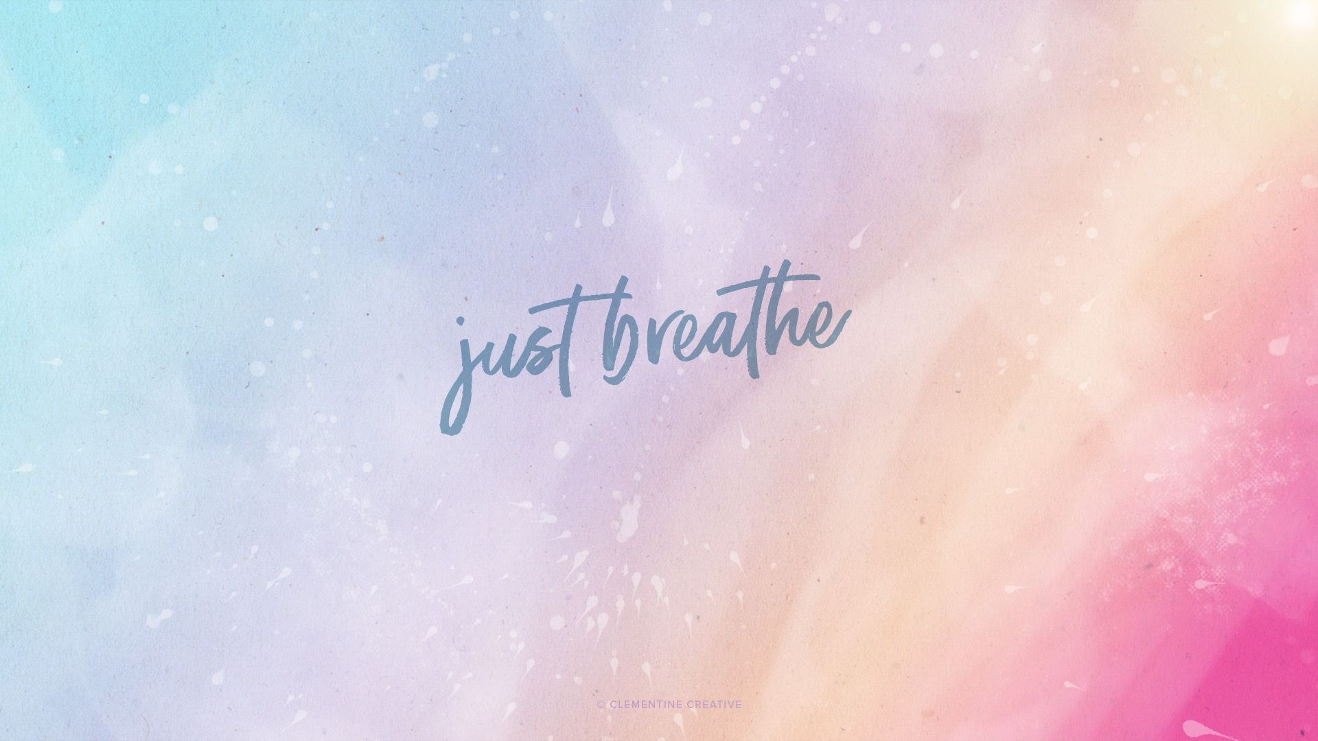 Just Breathe Free Desktop Tablet And Mobile Wallpapers Imac Wallpaper Cute Desktop Wallpaper Aesthetic Desktop Wallpaper