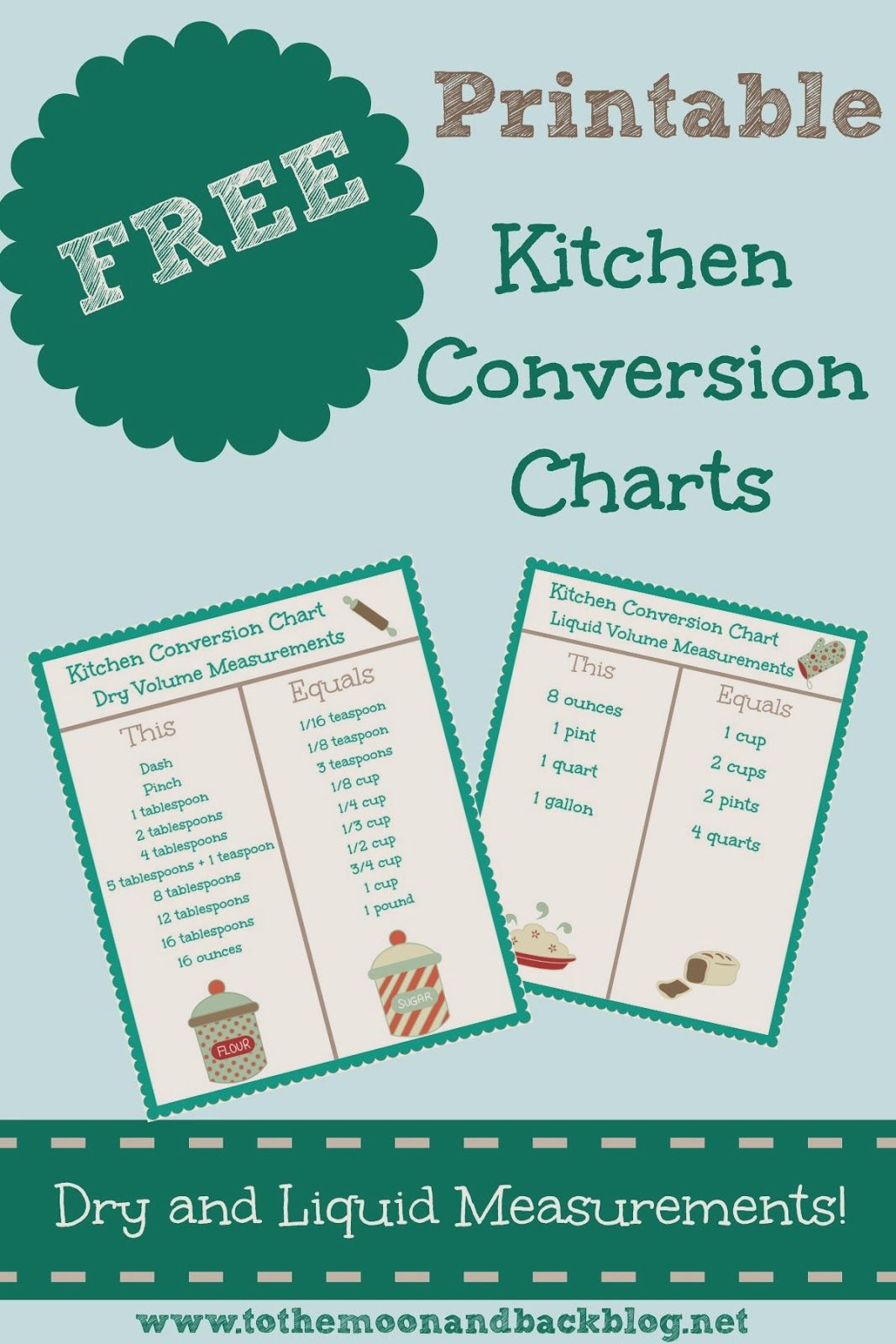 Free Printable Kitchen Conversion Charts
