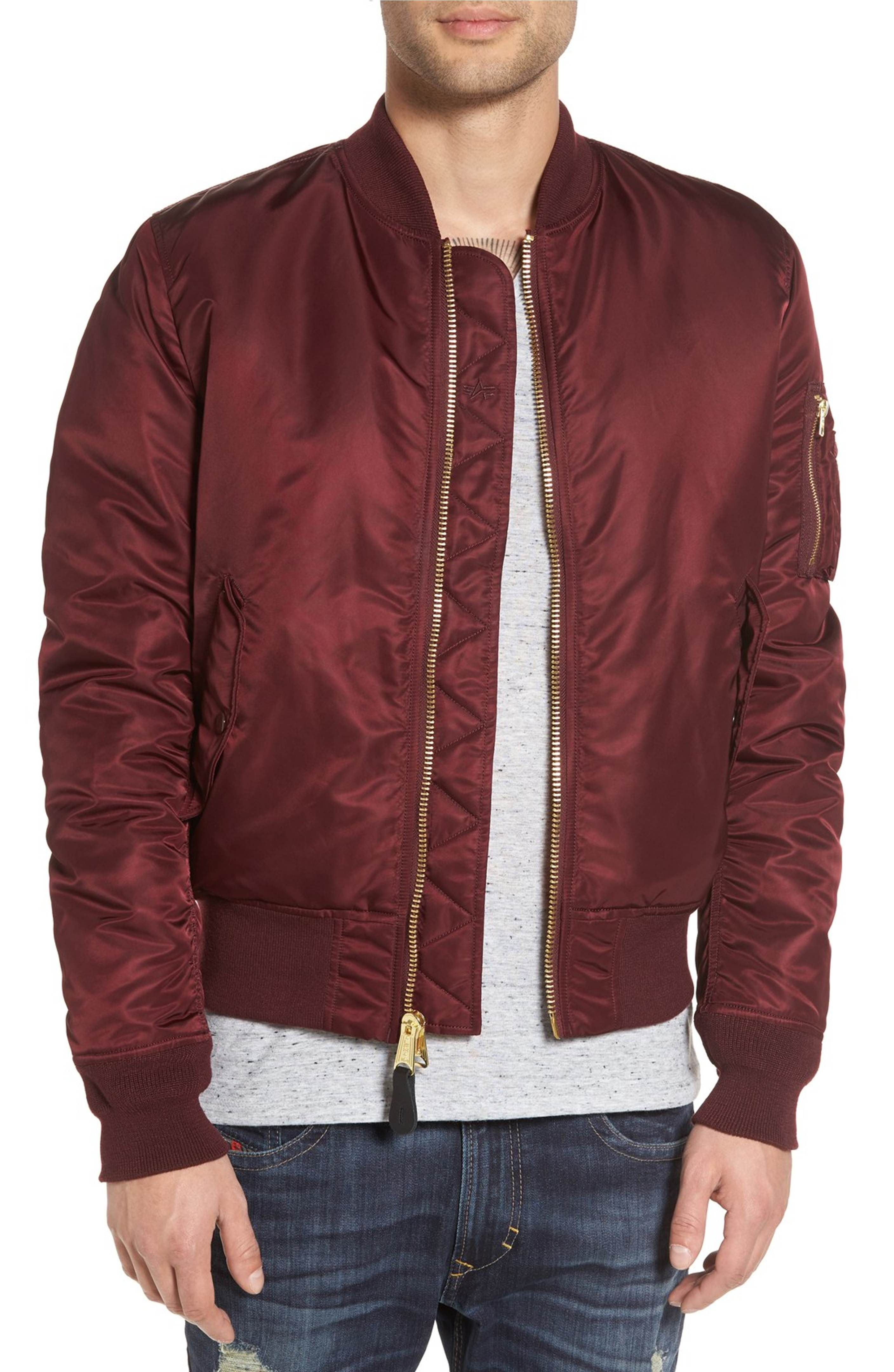 a555556f22 Main Image - Alpha Industries 'MA-1' Slim Fit Bomber Jacket | Man ...